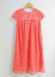 CHARLIE jurk kant - koraal