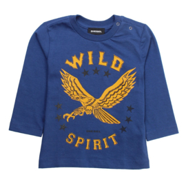 DIESEL t-shirt met lange mouwen - blauw
