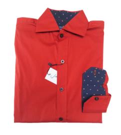 JAN VAN TRIER overhemd - rood
