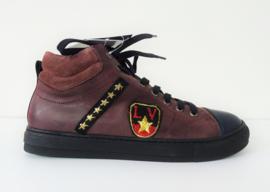 LUCA hoge schoenen - bordeauxrood