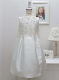 CHARABIA communie / bruidsmeisje jurk - ecru, goud