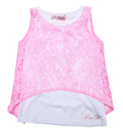 MISS BLUMARINE top met kant