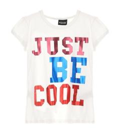 PLEASE t-shirt Just Be Cool - ecru