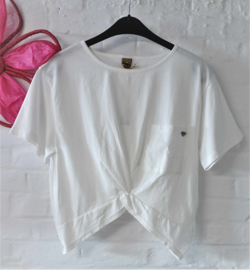 PLEASE crop t-shirt - ecru