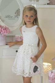 ALICE Pi. communie / bruidsmeisje jurk met kant - ecru, goud