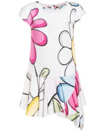 MONNALISA jurk bloemenprint - wit