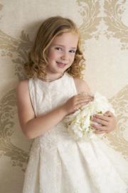DIAMANTE BLU communie / bruidsmeisje jurk - ecru, goud