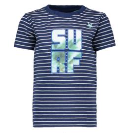 LCEE t-shirt gestreept - blauw