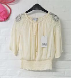 PATRIZIA PEPE blouse - ecru