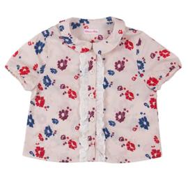 RITA CO RITA blouse met bloemen - roze