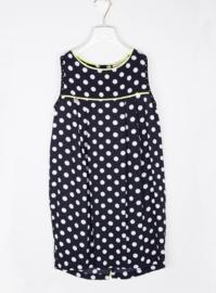 MANILA GRACE jurk met bolletjes - zwart