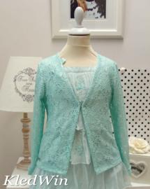 IKO vest - turquoise lichtglanzend