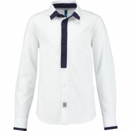 CKS overhemd - wit, blauw