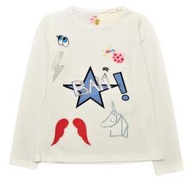 PAULINE B. t-shirt met lange mouwen - ecru