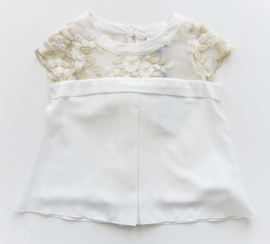 DIAMANTE BLU blouse - ecru