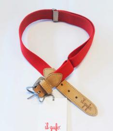 IL GUFO elastische riem - rood