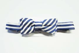 BLUE BAY vlinderdas met strepen