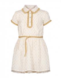 LEBIG jurk - ecru, goud