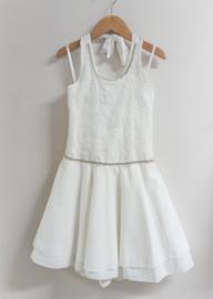 RTB communie / bruidsmeisje jurk open rug - ecru