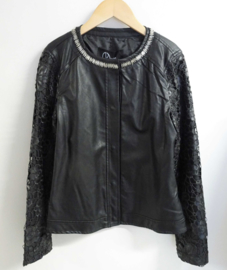 RELISH faux-leather jacket - zwart