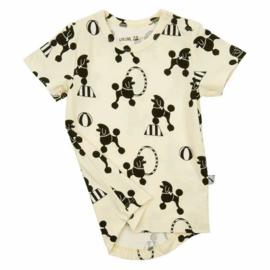 CARLIJNQ t-shirt poedel - geel