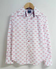 RL RED LIMIT overhemd Fietsen - wit, rood