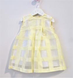 BABY GRAZIELLA jurk - geel, wit