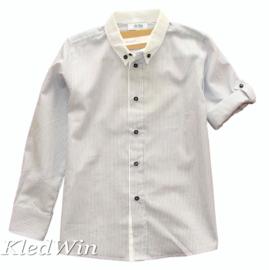 ALETTA overhemd gestreept - wit blauw, mt.6 jaar