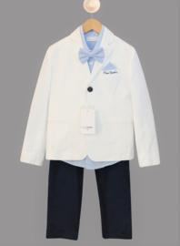 PIERRE CARDIN 5-delig communieset kostuum - wit, blauw
