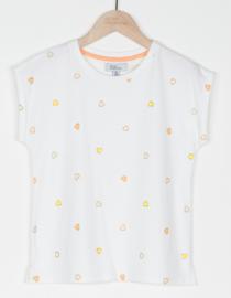 BRIAN & NEPHEW t-shirt met hartjes