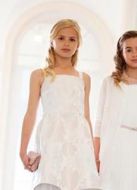 CHARLIE  communie / bruidsmeisje jurk - ecru, goud
