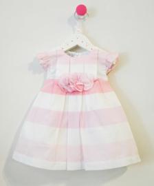 BABY GRAZIELLA jurk - wit, roze