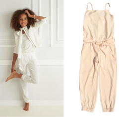 DIAMANTE BLU jumpsuit - nude