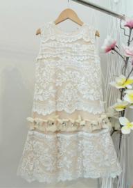 CAP-RAS communie / bruidsmeisje jurk - ecru, beige