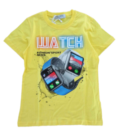 T-shirts smartwatch - geel