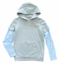 SCOTCH & SODA hoodie - grijs
