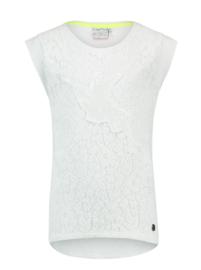 VINGINO t-shirt met kant - wit