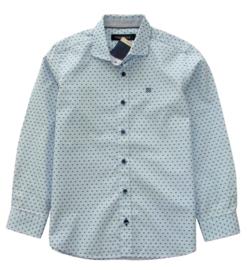 TERRE BLEUE overhemd met abstracte print - lichtblauw