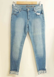 GUESS jeans met parels skinny fit - lichtblauw