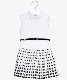 MAYORAL jurk - wit, zwart
