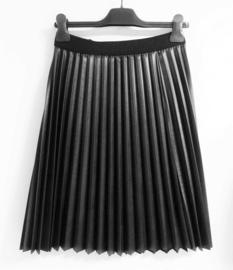 PLEASE plissé rok - zwart, kunstleer