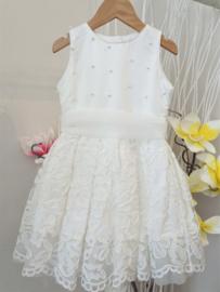 ALICE Pi. communie / bruidsmeisje jurk met parels - ecru