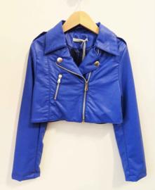 LOREDANA imitatieleren biker jacket
