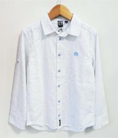 RED&BLU wit hemd gespikkeld met blauwe tinten