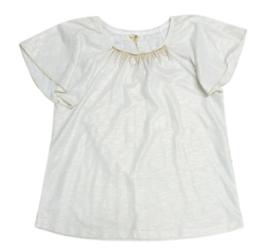 PAULINE B. t-shirt - ecru, goud