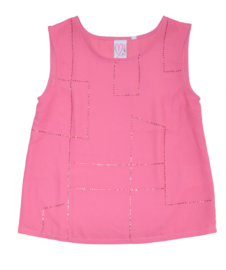 LOVED BY MIRACLES top - roze
