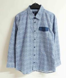 TERRE BLEUE overhemd - blauw