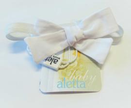 ALETTA BABY vlinderdas strik - wit