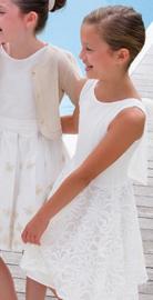GYMP communie / bruidsmeisje jurk - ecru