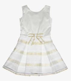PAULINE B. jurk - ecru, goud